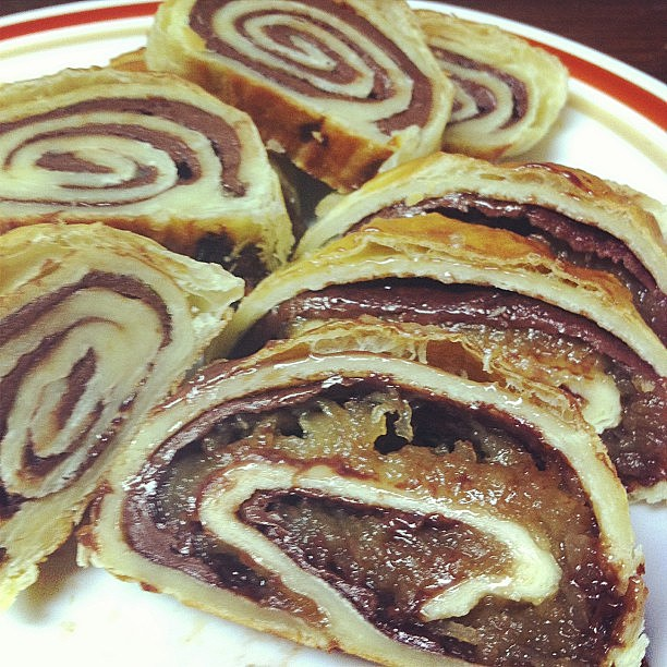 Pear and Nutella Rolls
