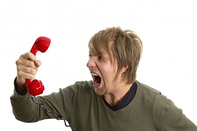 Screaming Phonecall - Credit- iStock - 175376922