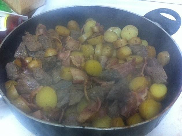 food in pot