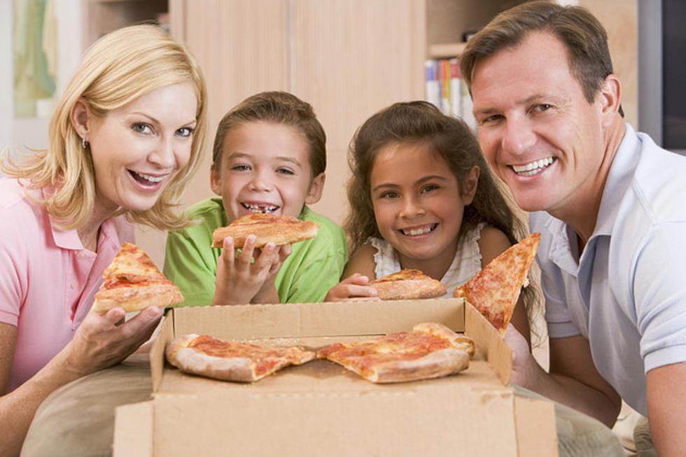 Family Eating Pizza Hut