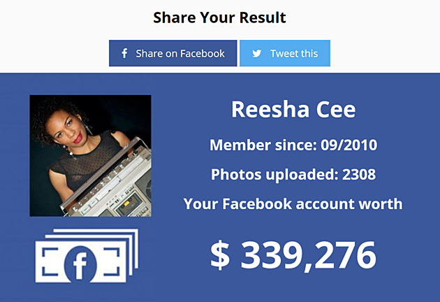 Find out how much you are worth on Facebook