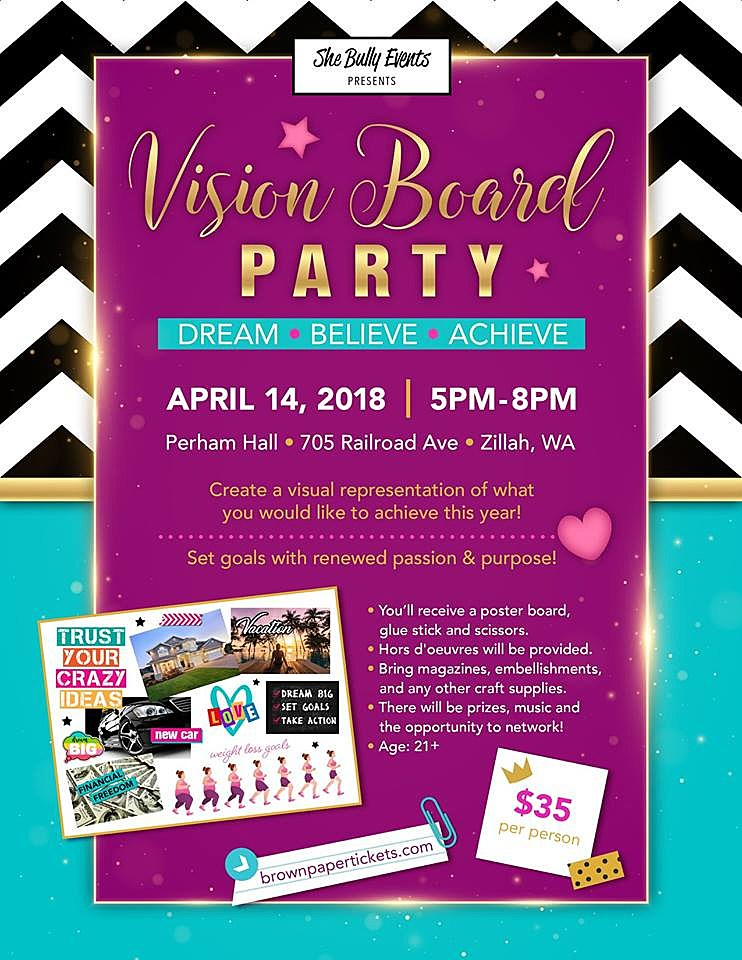 Vision Board Party in Zillah Is About Making Dreams Come True